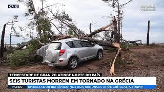 Seis turistas morrem em tornado na Grécia