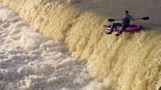 kayaking White Rock lake spillway during flood Dallas Adventure part 1