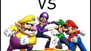 mario and luigi vs wario and waluigi wwe 2k14