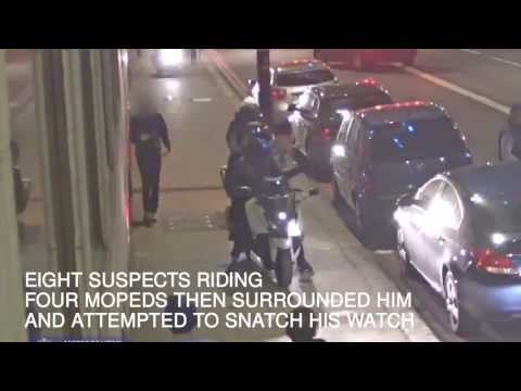 Four mopeds surround victim in attempted robbery in London streaming vf