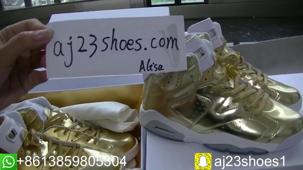 quality design 63759 5f395 Air Jordan 6 Retro Pinnacle Metallic Gold HD review from aj23shoes.com