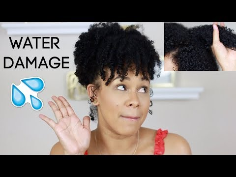 WATER DAMAGE 101: OVER MOISTURIZING YOUR HAIR 💦