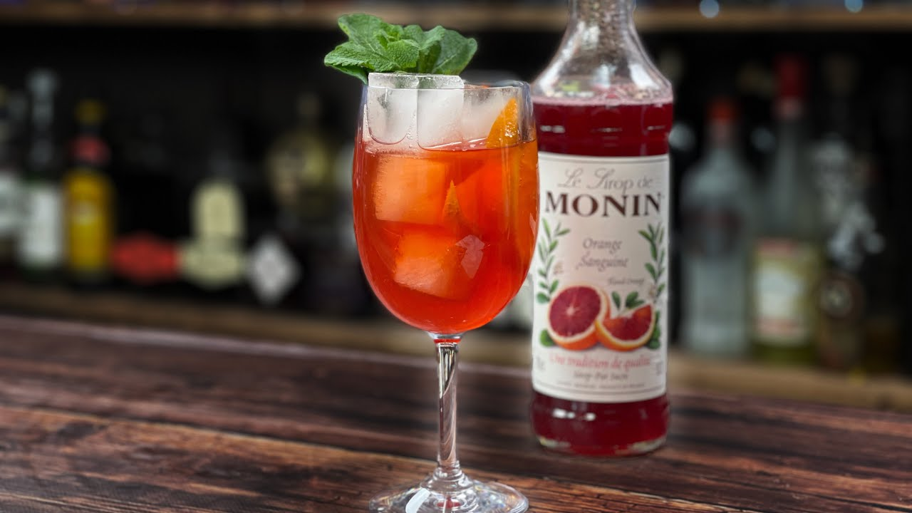Blood Orange Drinks - A Blood Orange APEROL SPRITZ