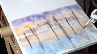 Как рисовать акварелью - урок рисования пейзажа Венеция Артакадемия(Больше статей по рисованию акварелью и урокам живописи на нашем сайте: http://www.artacademia.kiev.ua Наш facebook: https://www.faceboo..., 2015-03-26T11:06:13.000Z)