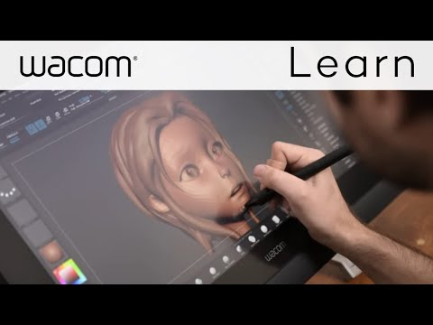 Live 3D Art Designing with a Wacom Cintiq and ZBrush