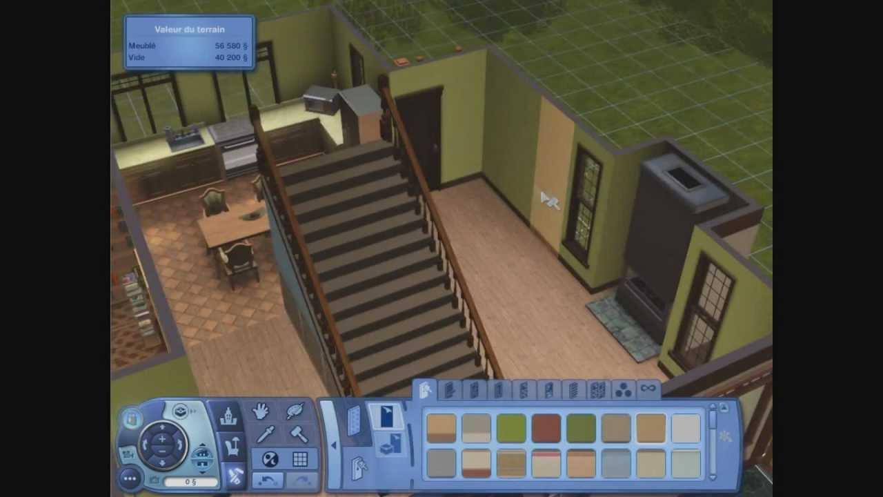 Construction d 39 une maison les sims 3 youtube for Construction maison sims 3