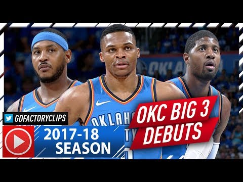 Thumbnail: Russell Westbrook, Carmelo Anthony & Paul George Highlights vs Knicks (2017.10.18) - OKC BIG 3 Debut