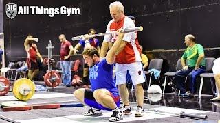 Artem Okulov Snatch Warm Up Stretch 2015 Russian Weightlifting Championships