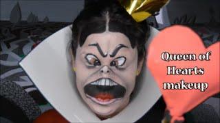 The Queen of Hearts from Alice in Wonderland makeup
