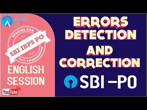 SBI PO 2017 | Errors Detection & Correction In English | Online Coaching for SBI IBPS Bank PO