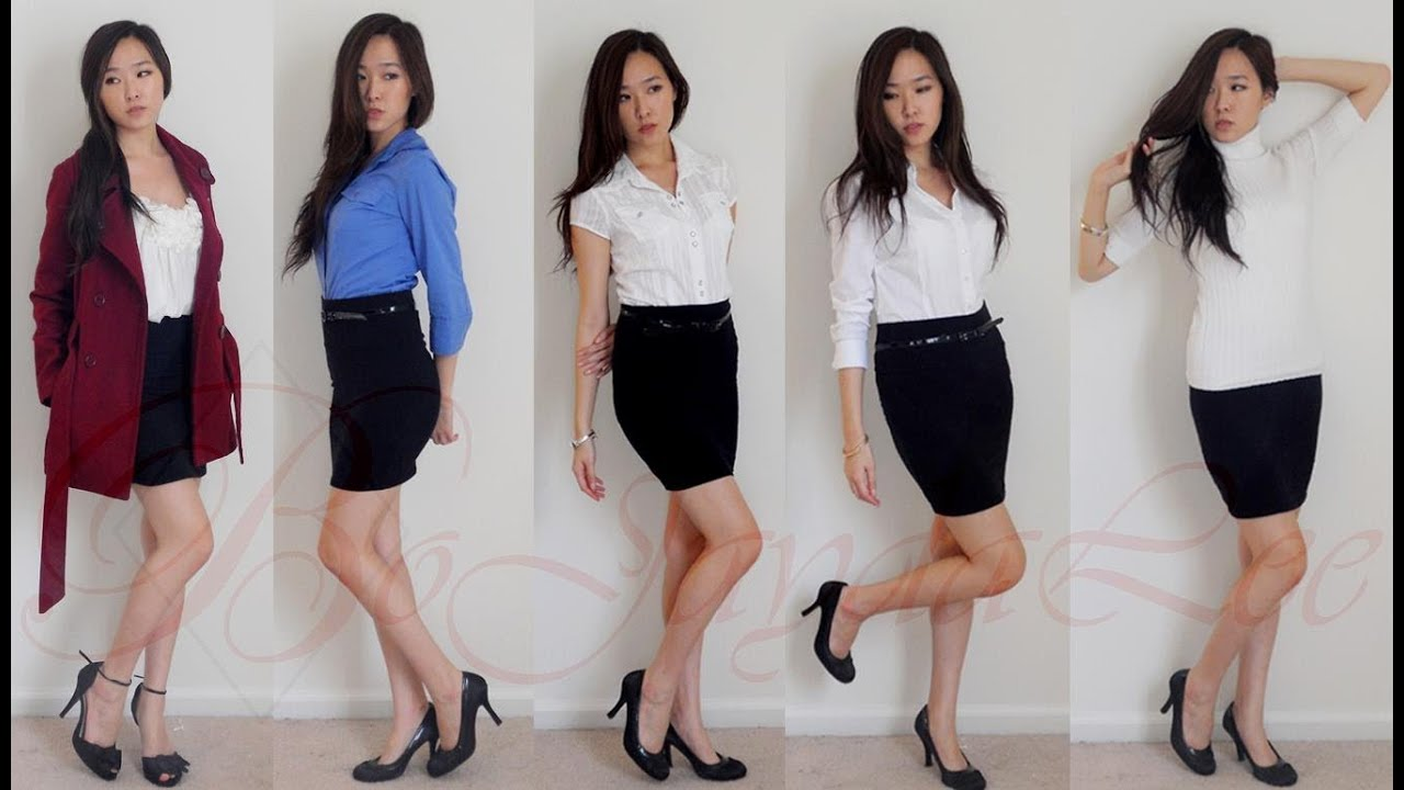 Lookbook: Stylish, Simple, Chic ft Black Pencil Skirt - YouTube
