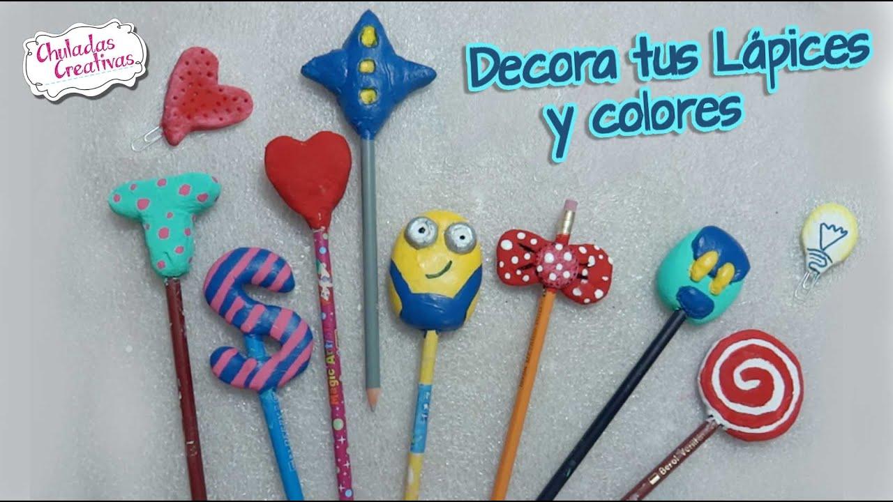 Chuladas creativas decora tus l pices pasta - Manualidades con papel de colores ...