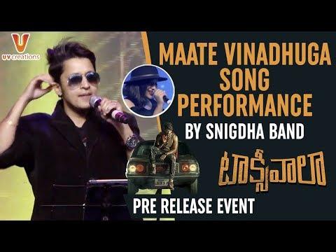 Maate Vinadhuga Song LIVE Performance By Snigdha Band | Taxiwaala Pre Release | Vijay Deverakonda