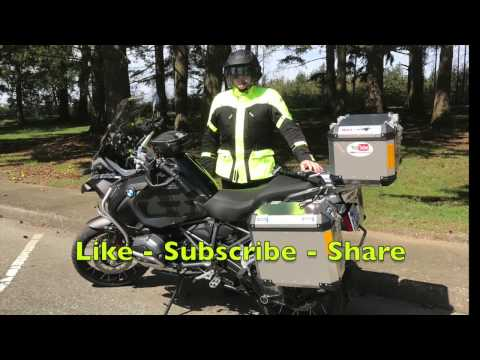 Brooks Panniers Water Test 2017 BMW R1200GSA Motorrad