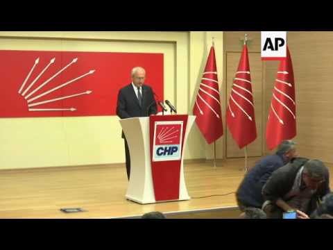 Turkey opposition party leader questions vote