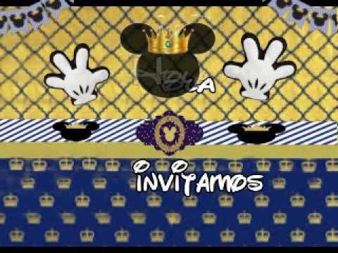 Mickey Principe Modelo Invitación Digital