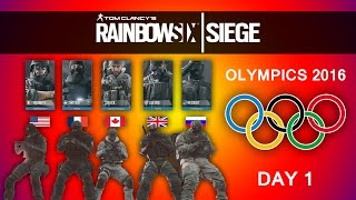 Rainbow Six Siege 2016 Olympics! Day 1 (Funny Moments)
