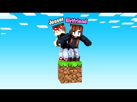 Minecraft BUT It's ONLY 1 BLOCK W/ My GirlFriend