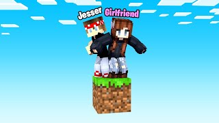 Minecraft BUT it's ONLY 1 BLOCK w/ My GirlFriend