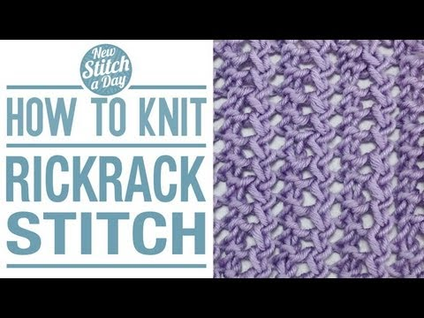 How To Knit The Rickrack Stitch English Style