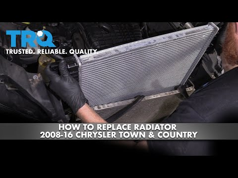 How to Replace Radiator 2008-16 Chrysler Town & Country