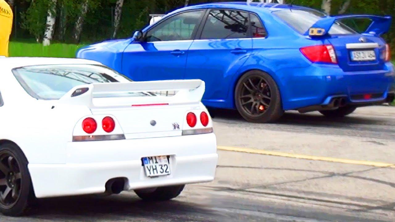 Subaru Impreza Wrx Sti 2013 Vs Nissan Gtr R33 Drag Race 1