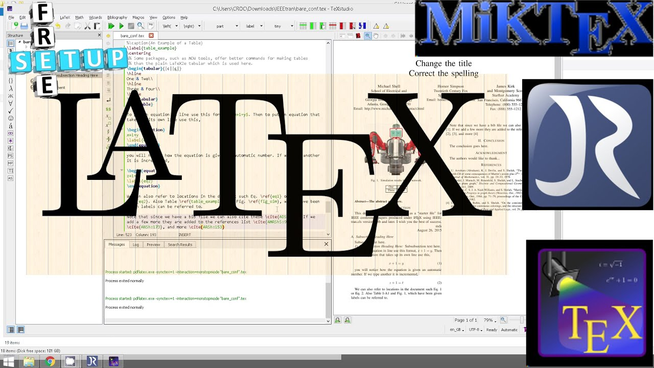 Tutorial setup latex environment miktex texstudio for Miktex templates