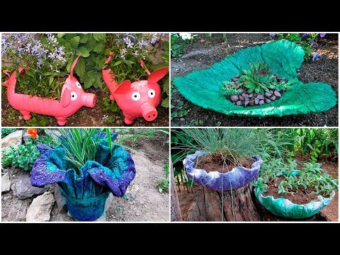 16 ideas of garden crafts. Crafts for giving