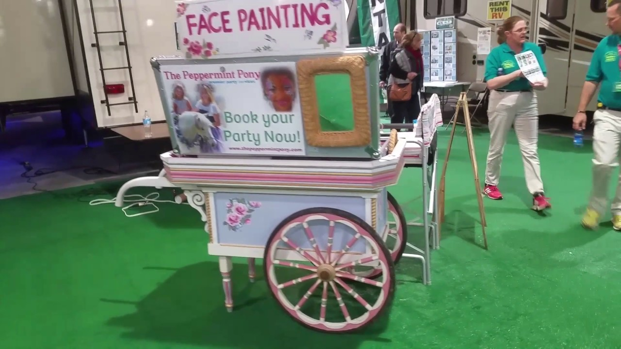 The Peppermint Pony Flower Cart Face Painting Kit Youtube
