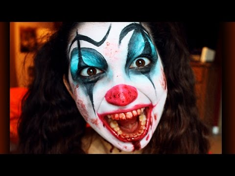 Tutoriel maquillage clown psychopathe youtube - Maquillage de clown facile ...