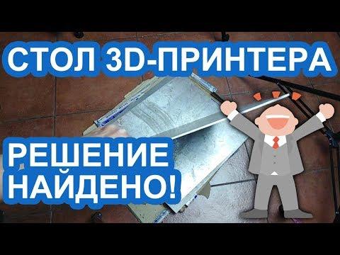 СТОЛ 3D-ПРИНТЕРА: ЭВРИКА!
