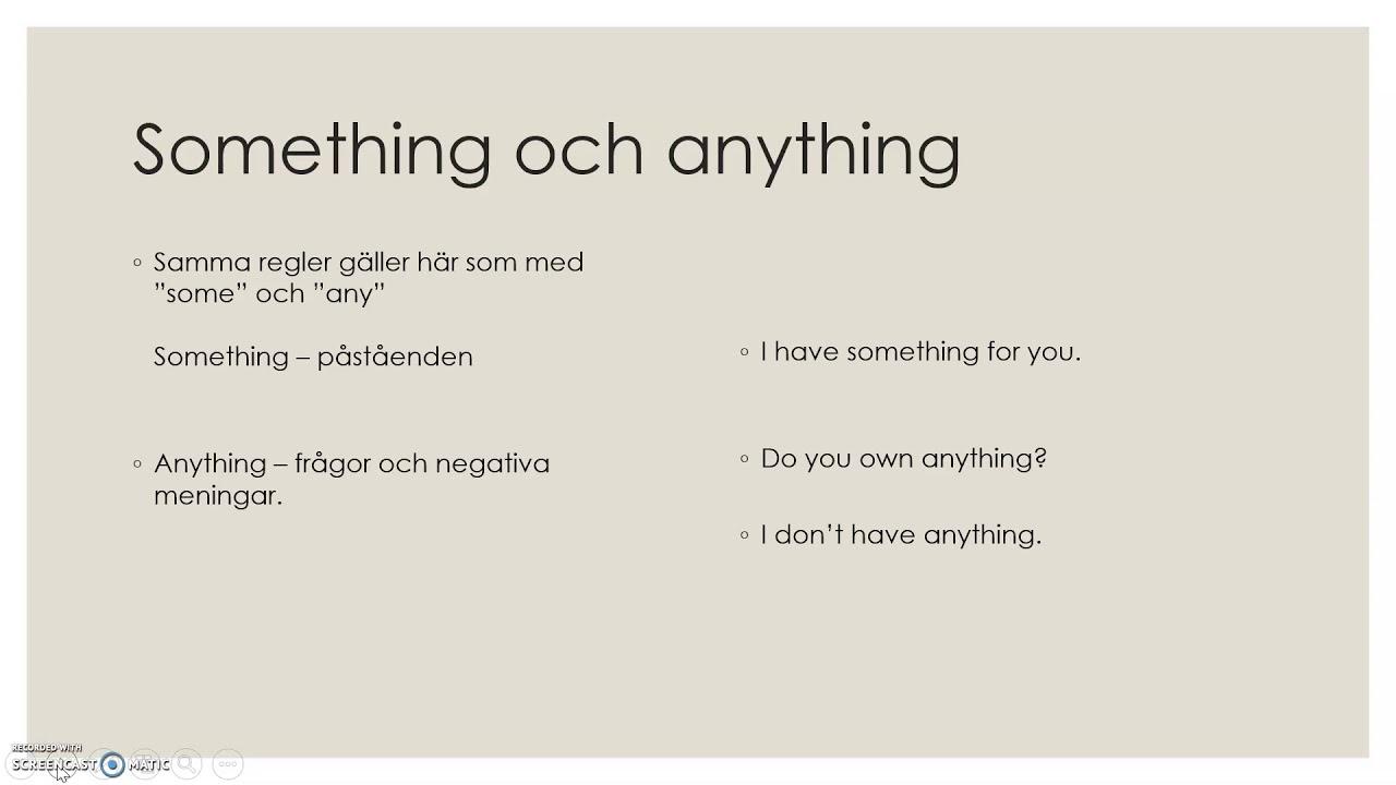 Engelsk grammatik på svenska - indefinita pronomen