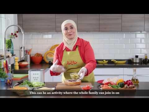 Engsub   Frico Arabia – Chef Manal Frico cheese Gouda Sandwich with beets (Banjar)