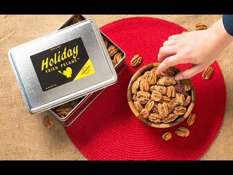 Holiday Fried Pecans - Sweet & Salty Louisiana Pecans