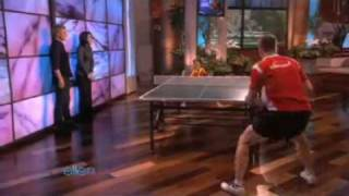 Seven Year old Chinese Table Tennis Prodigy Xin-Xue Feng  on Ellen (22-11-09)