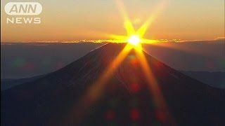 2016年の初日の出 富士山上空から「ご来光」(16/01/01)