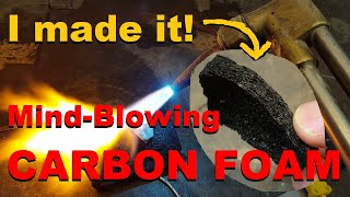 Carbon Foam: an incredible material made from everyday items.
