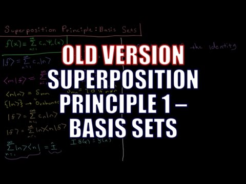 Quantum Chemistry 4.10 - Superposition Principle 1: Basis Sets (Old Version)