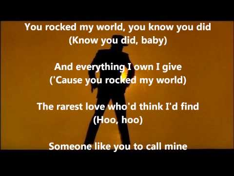 Michael Jackson  You Rock My World ~ With Lyrics
