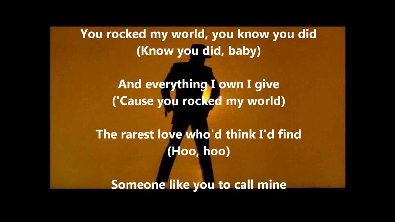 Michael jackson rock my world lyrics