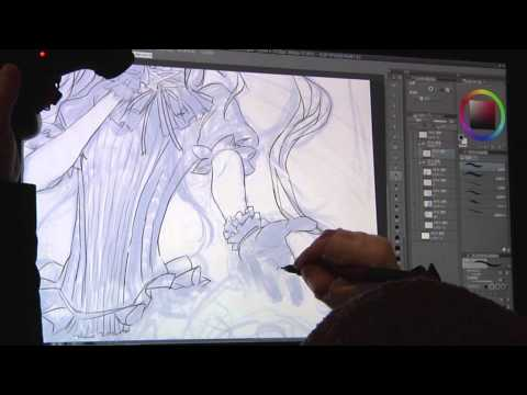redjuice Live Painting in MANSAI [SUB] Tutorial(Tips for illustration) (1/3)