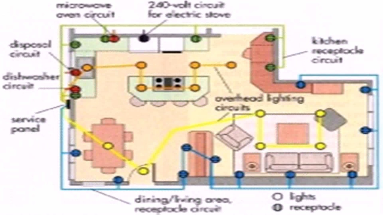 typical house electrical wiring diagram led downlight australia blueprint symbols for home floor plan youtube