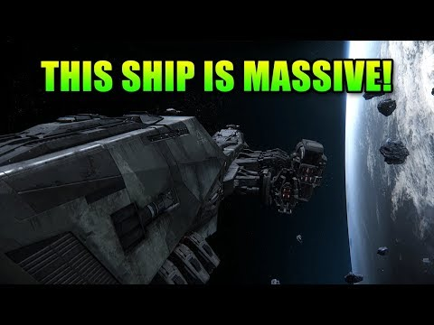 Star Citizen's Biggest Ship Yet - 155 meters long! | Aegis Reclaimer Walkthrough
