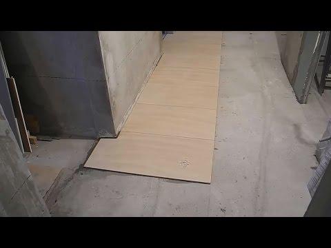 Облицовка пола,прихожая,коридор,ванная,кухня ч.2