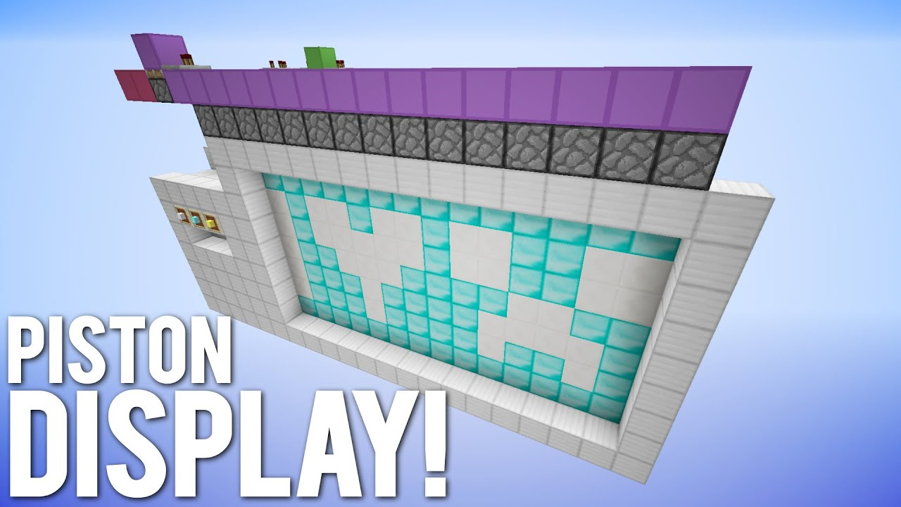Minecraft Redstone Screen Diagram Trusted Wiring Mod The Dynamic Multi Colour Piston Display Youtube Train Station