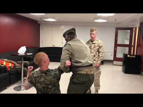 Marine Teaches Corps Plus even on break from Duty