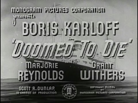 Doomed To Die 1940 Crime Drama Mystery