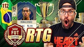 WOW 94 RONALDINHO GETTING US TOP 100 FIFA 18 Ultimate Team Road To Fut Ch ions 112 RTG