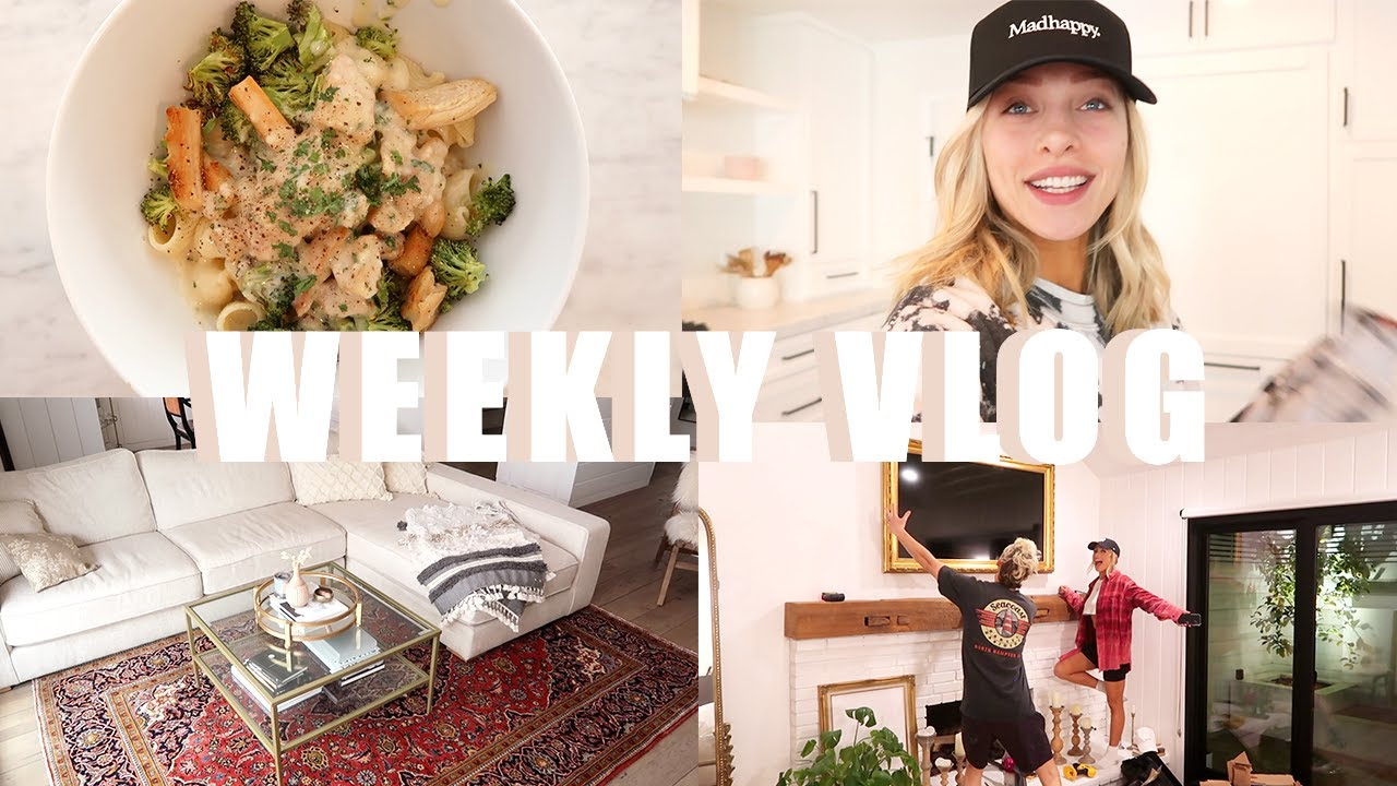 WEEKLY VLOG: CLAYTON'S BIRTHDAY, VEGAN CHICKEN ALFREDO, NEW TV + RUGS