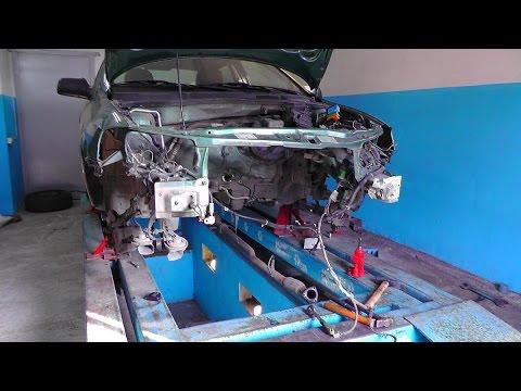 Opel Astra G. Установка на стапель. Разбор.